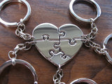Five Person Keychain, Silver Puzzle Keyrings
