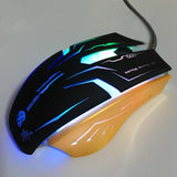 6 Buttons 3200DPI Metal Base Led Optical Advanced Wired Gaming Mouse