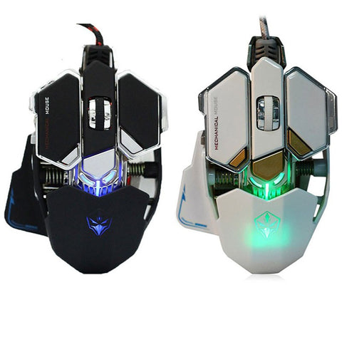 Mechanical Gaming Mouse 4000 DPI Adjustable Optical 9 Buttons USB Wired
