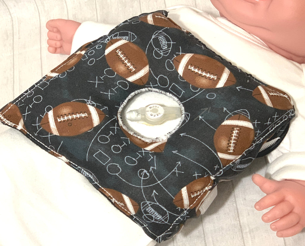Football G-Tube Tummy Time Pillow - Lil' Bayou Boutique