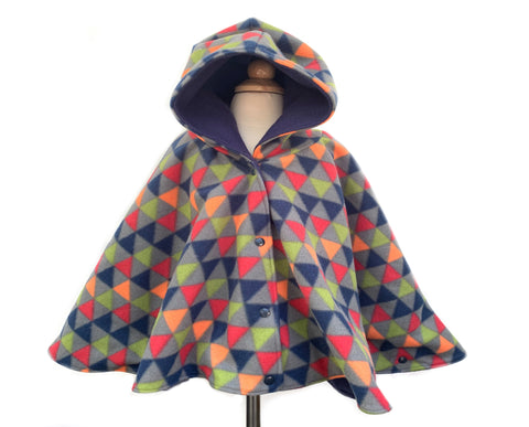 Geometric Car Seat Poncho