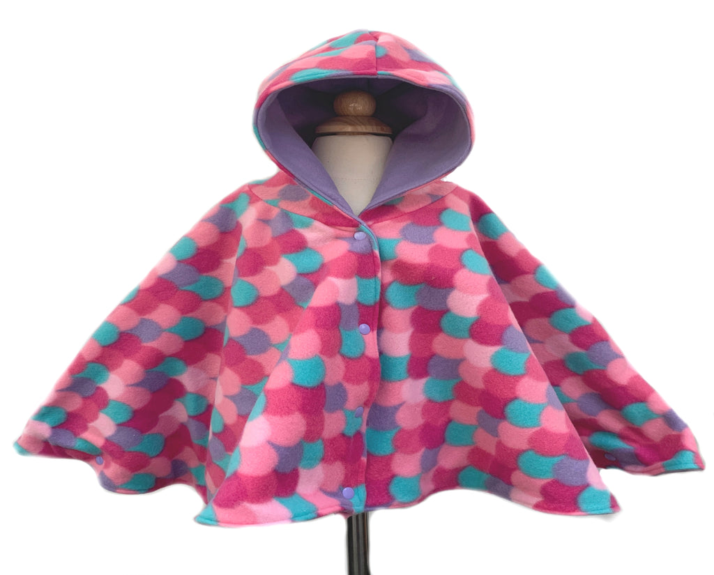 Mermaid Scales Car Seat Poncho - Lil' Bayou Boutique