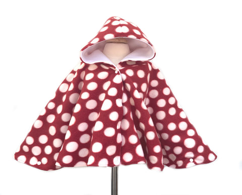 Red and White Polka Dot Poncho - Lil Bayou Boutique