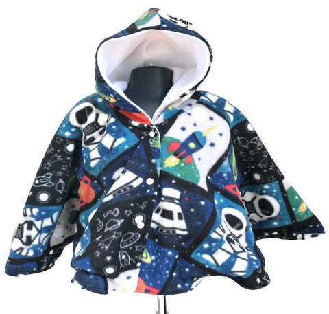 Astronaut Car Seat Poncho - Lil Bayou Boutique