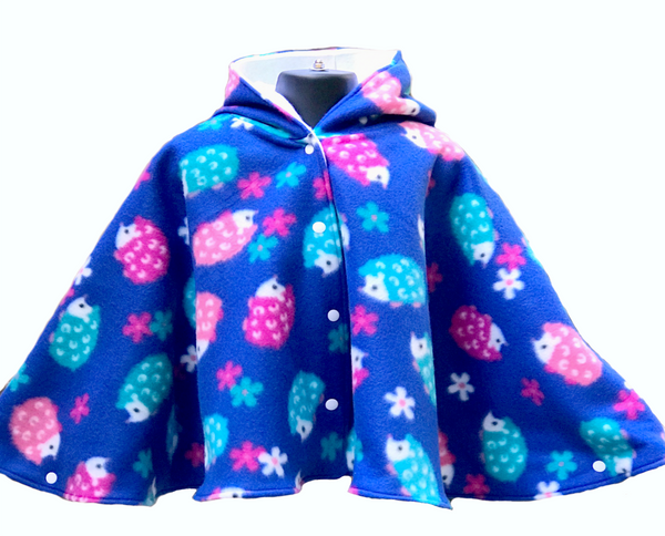 Fleece Hooded Poncho - Lil' Bayou Boutique