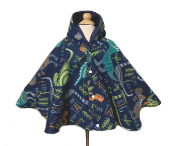 Fleece Hooded Poncho - Lil Bayou Boutique