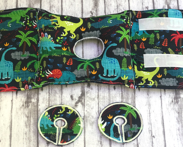 Dinosaur G-tube pillow - Lil' Bayou Boutique