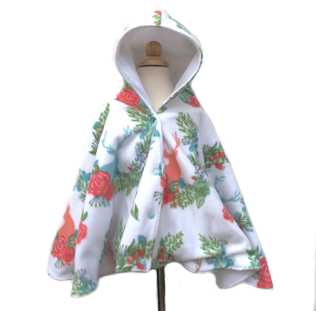 Floral Car Seat Poncho - Lil Bayou Boutique