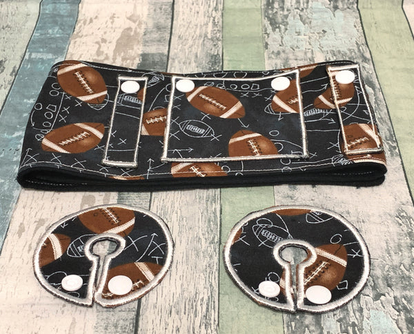 Football Feeding Tube Belt - Lil' Bayou Boutique