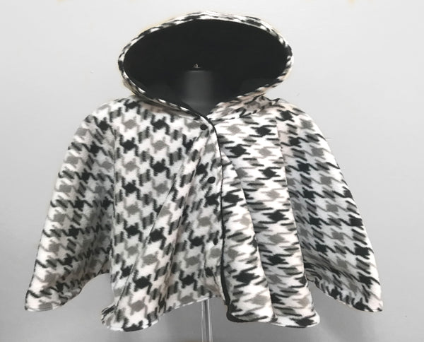 Black, white and grey baby poncho - Lil Bayou Boutique