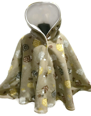 Hedgehog Car Seat Poncho - Lil' Bayou Boutique