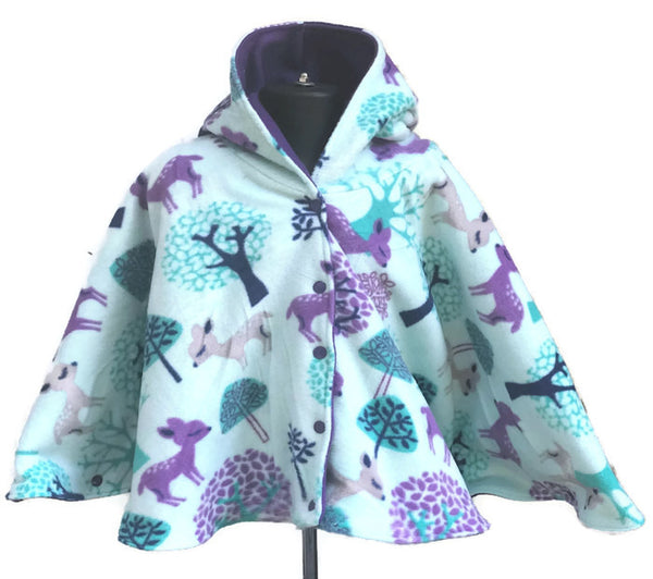 Baby Deer Fleece Poncho - Lil' Bayou Boutique