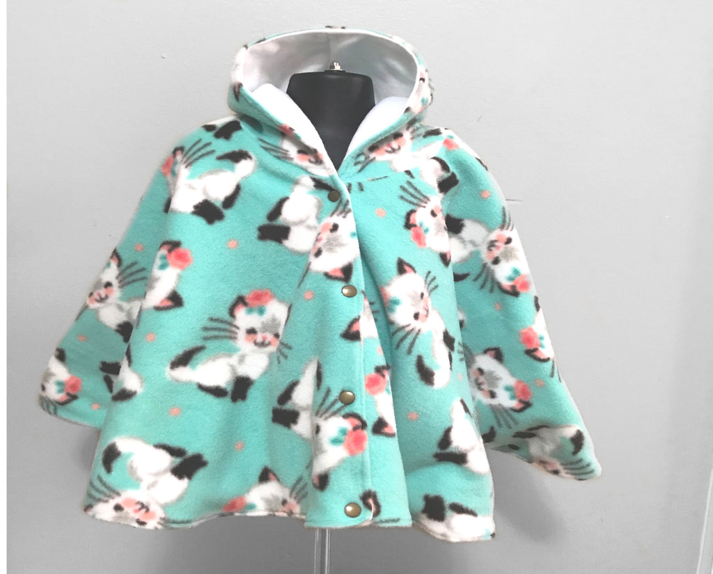 Kitten Car Seat Poncho - Lil' Bayou Boutique