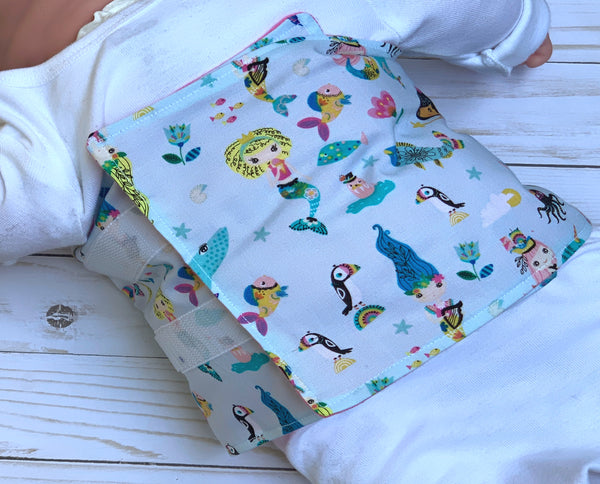 Mermaid G-Tube Tummy Time Pillow