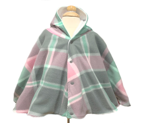 Pink Plaid Carseat Poncho - Lil Bayou Boutique