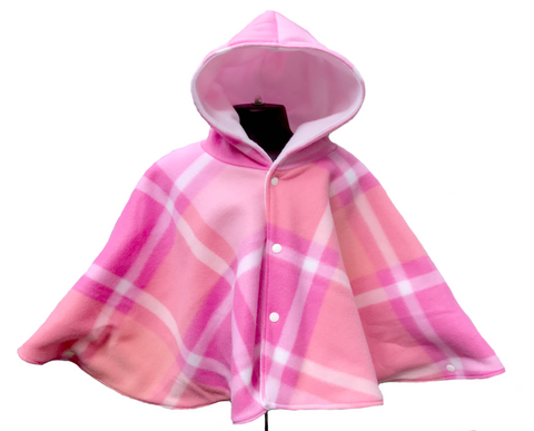 Pink Plaid Car Seat Poncho - Lil' Bayou Boutique