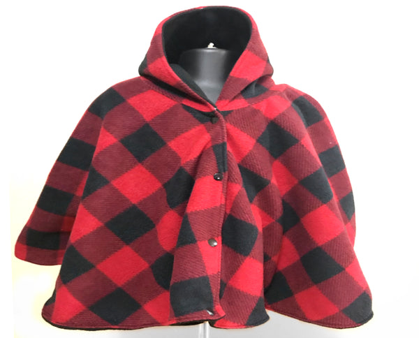 Red checkered car seat poncho - Lil' Bayou Boutique