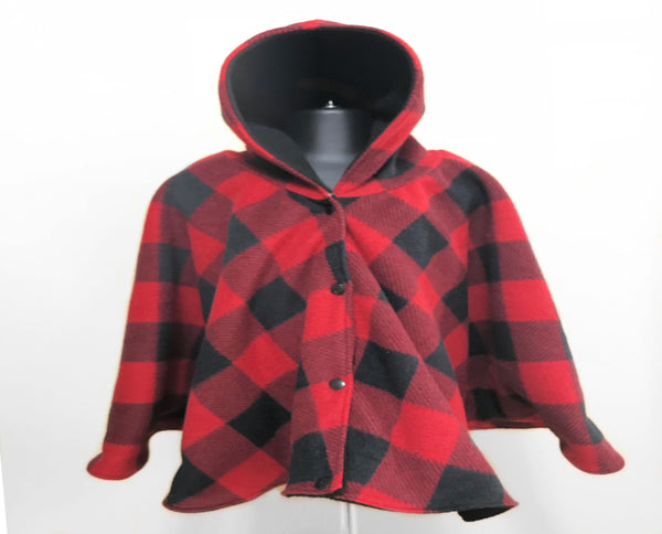 Red buffalo plaid car seat poncho - Lil' Bayou Boutique