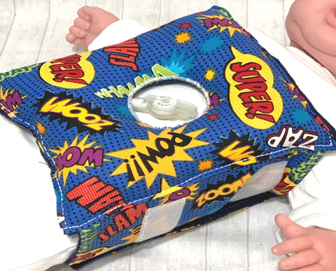 Superhero G-Tube Tummy Time Pillow - Lil' Bayou Boutique