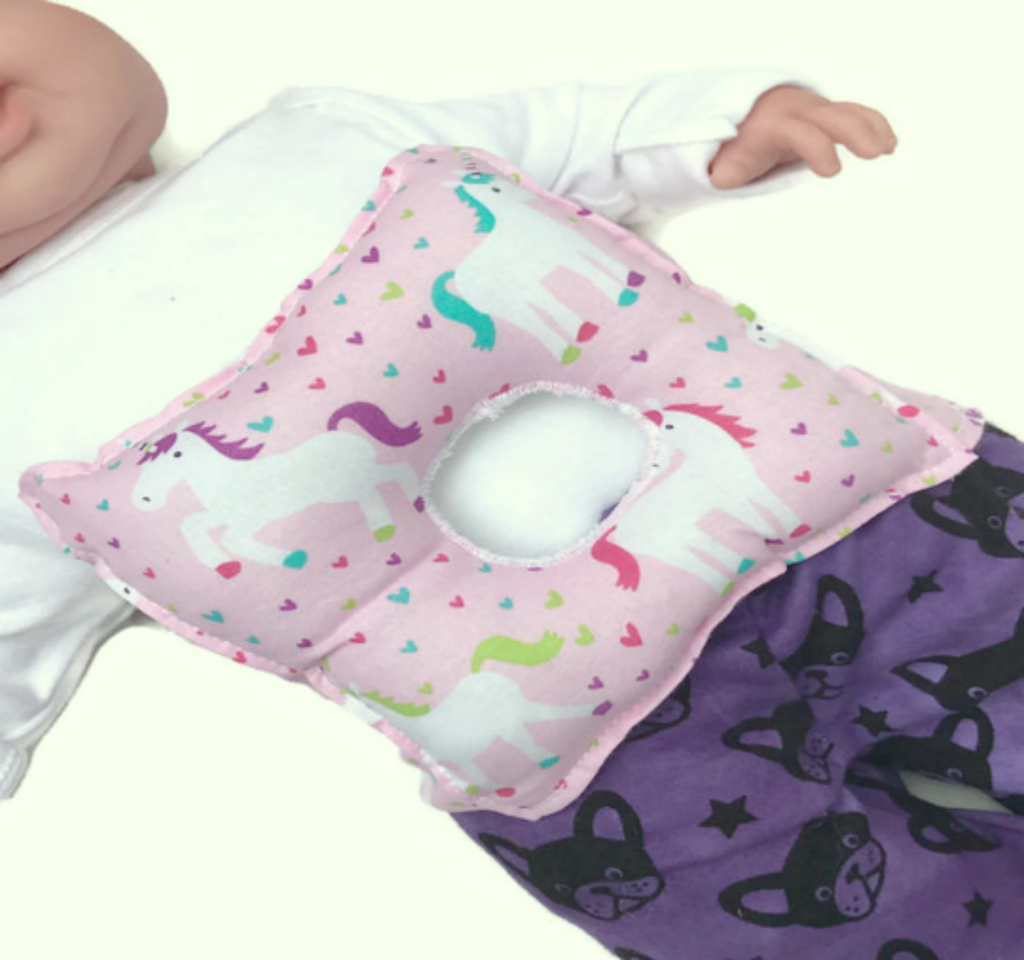 Unicorn G-Tube Tummy Time Pillow - Lil' Bayou Boutique