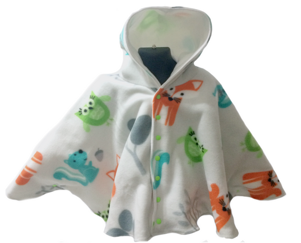 Woodland Animals Car Seat Poncho - Lil' Bayou Boutique