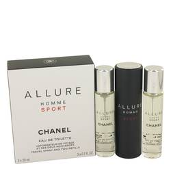 Chanel Allure Homme Sport Miniature + 2 Refills (EDT for Men)