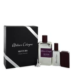Atelier Cologne Silver Iris Pure Perfume for Women (Free 1 oz Pure Perfume Refillable Spray in Leather Case)