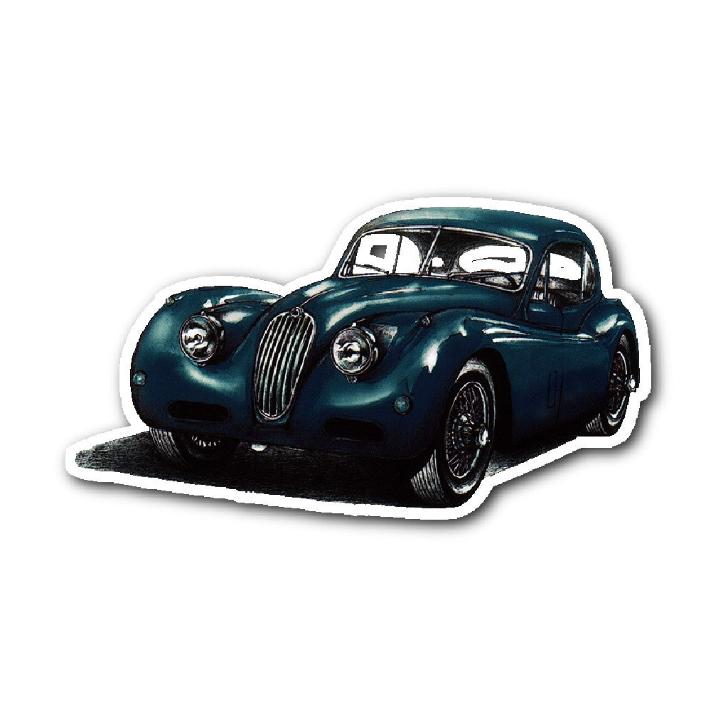 Stickers jaguar xk 140 fhc lhd year 1954 sticker limited edition