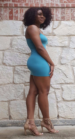 Candy Blue Tank Dress