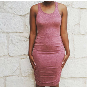 Mesh Pink Casual Dress