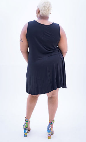 Black Swing Dress (Plus)