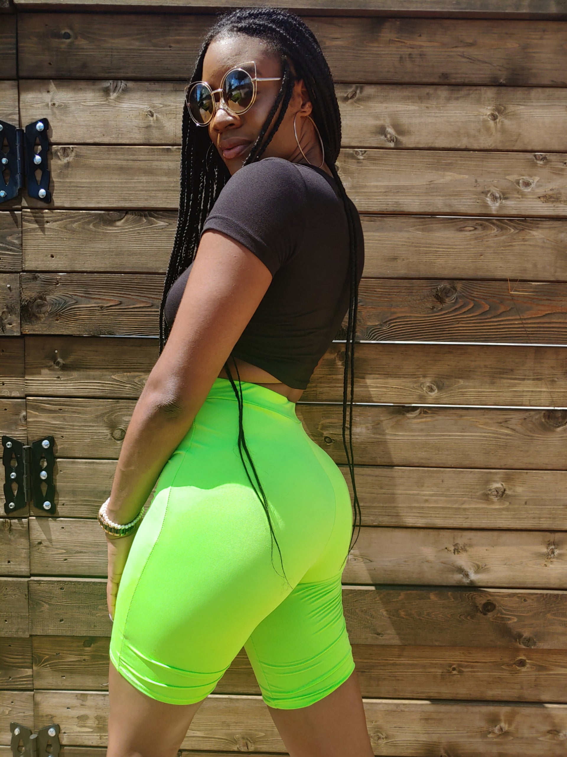 Biker Shorts Lime Green