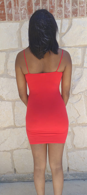 Cherry Red Tank Dress