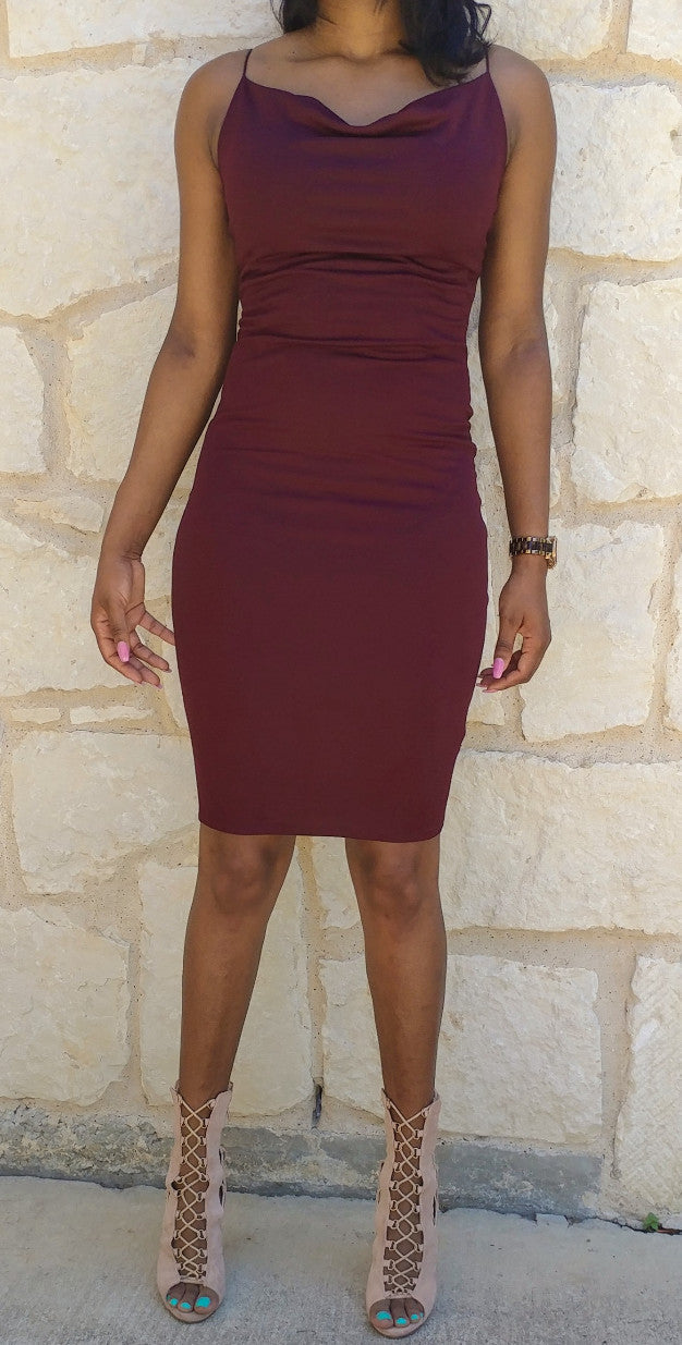 Keysha Dress Burgundy
