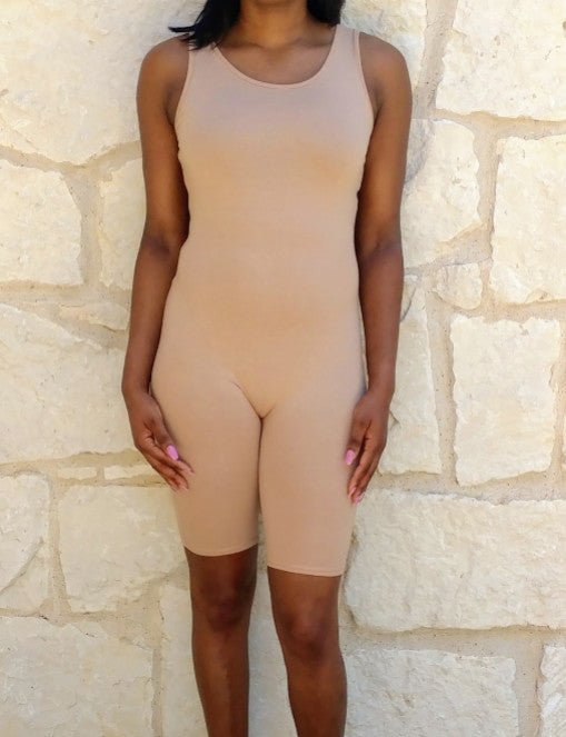 Nude Crop Jumpsuit`