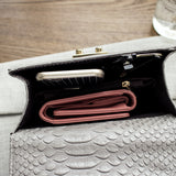 Alligator Design Small Woman's Handbag - Assorted Colours