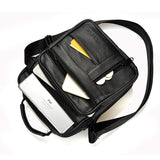 Dreamlizer Cowhide Leather Men's Shoulder / Crossbody Bag Black