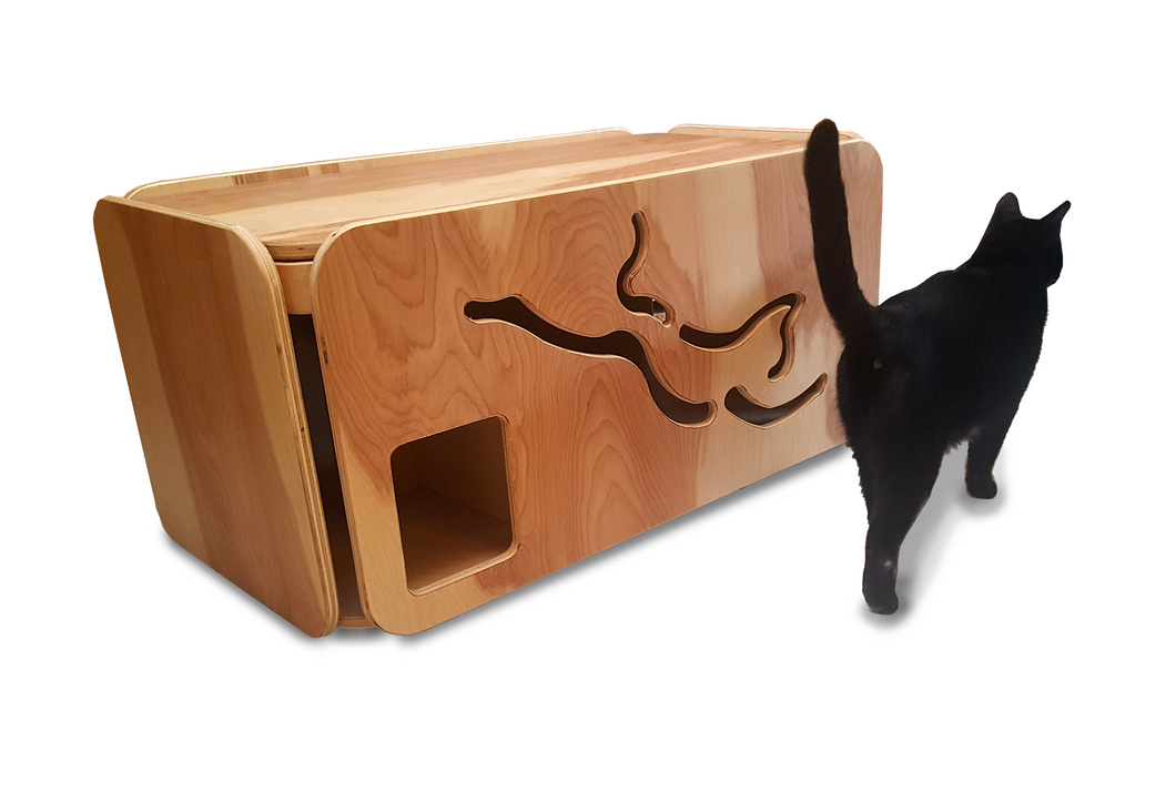 box pet cabinet modern furniture litter cat house pin cover
