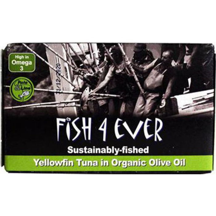 Fish 4 Ever Sustainably-Fished Yellowfin Tuna In Brine 120g