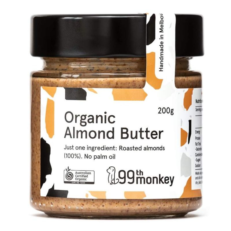 Almond Butter 200g Certified Organic