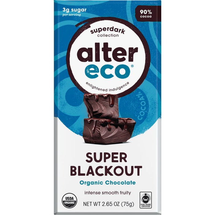Super Blackout Chocolate Bar Certified Organic