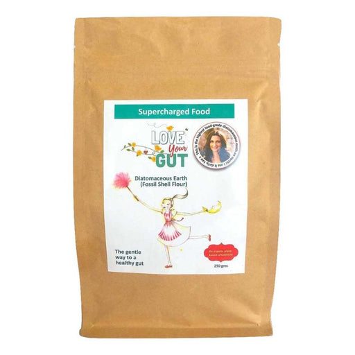 Love Your Gut Powder, Diatomaceous Earth (Fossil Shell Flour) Organic 250g