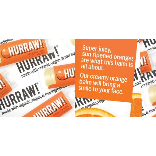 Hurraw! Orange Lip Balm Vegan