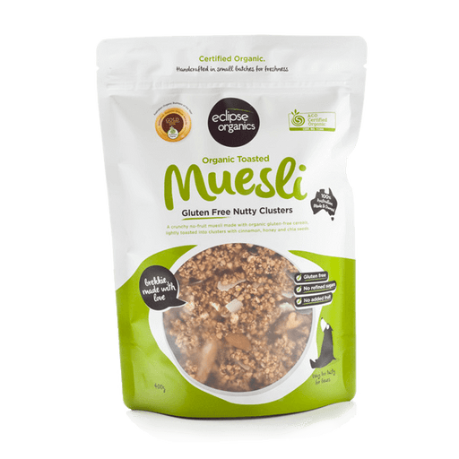 Muesli, Toasted Gluten Free Nutty Clusters (Organic)