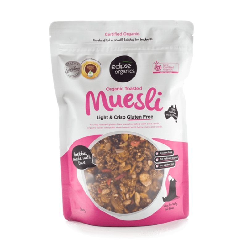 Muesli Toasted Light and Crisp Gluten-Free Certified Organic
