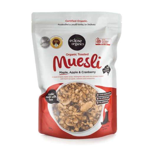 Muesli Toasted Maple Apple and Cranberry Certified Organic