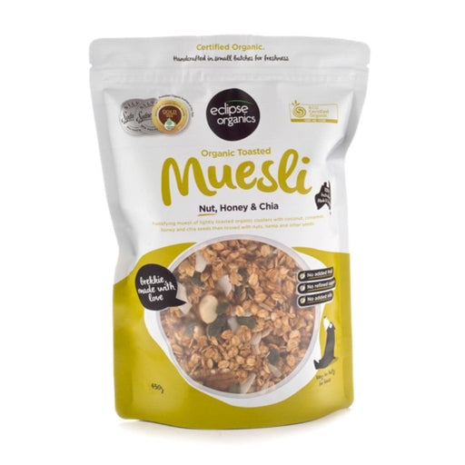 Muesli Toasted Nuts Honey and Chia Certified Organic