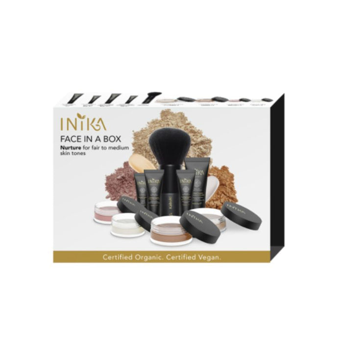 Inika Face in a Box Nurture - The Essentials Starter Kit Certified Organic
