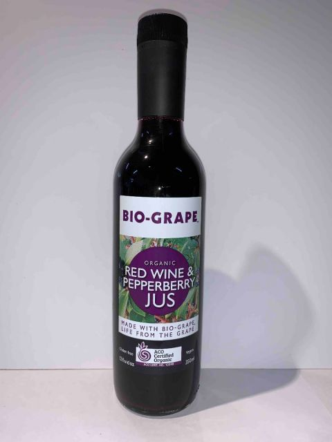 Bio-Grape Red Wine & Pepperberry Sauce Certified Organic