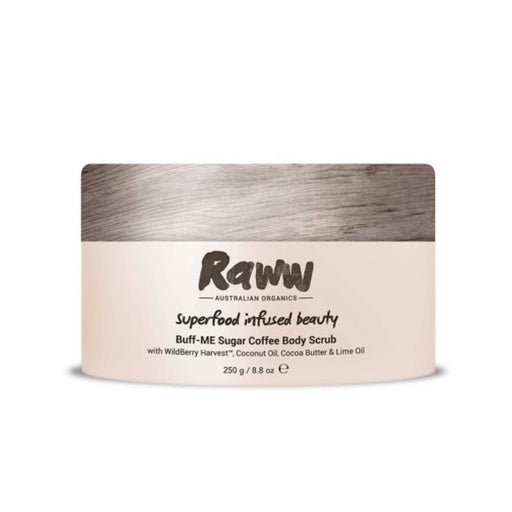 Raww Buff-ME Sugar Coffee Body Scrub Certified Organic